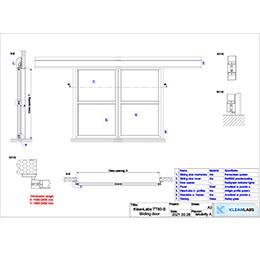 TT60 S1 Sliding door 2D drawing