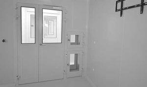 Clean room door double Kleanlabs PCH2