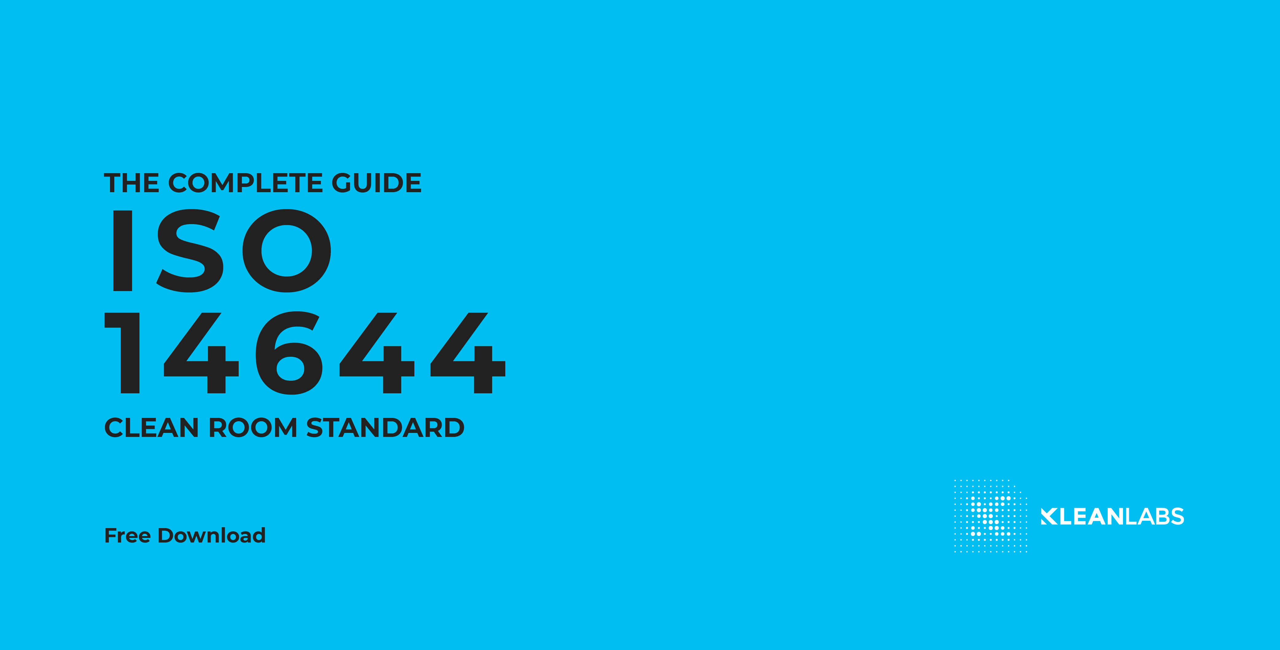 Free downloadable pdf on the ISO14644-1 standard